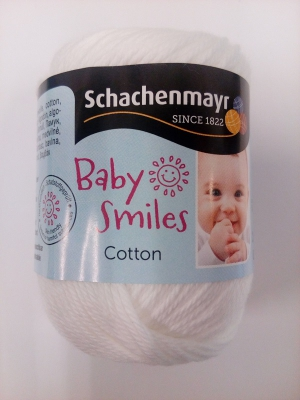 Baby Smiles bomuld - hvid