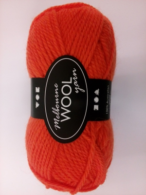Melbourne uldgarn orange l: 92 m 50 g