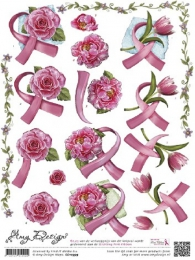 3d ark pink ribbon
