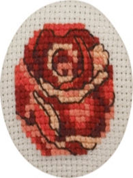 Broderi badges rose (02-2197)