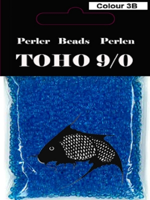 Toho perler 9/0 3b transparent turkis